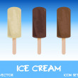 Stock Photo: Icon set of ice cream, vector illustration