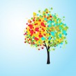 Pretty colorful abstract background with a tree, vector — Stock Photo #22996572