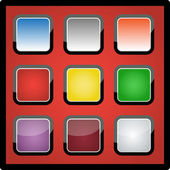 Colorful backgrounds for app icons, vector — Stock Photo