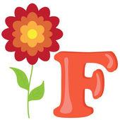 Alphabet for kids, letter f, vector illustration — Stock Photo