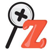 Alphabet for kids, letter z, vector illustration — Stock Photo