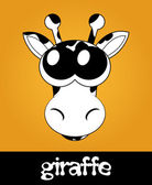 Vector illustration of cartoon giraffe with big cute eyes — Stock Photo