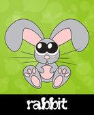 Schattig konijn met grote ogen, vectorillustratie — Stockfoto