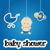 Fond coloré pour douche de bébé, vector — Photo