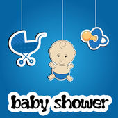 多彩背景为婴儿送礼矢量 — 图库照片
