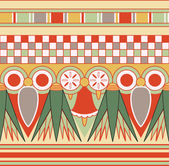 Colorful ancient egyptian ornament, seamless pattern, vector — Stock Photo