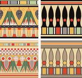 Uppsättning av forntida egyptiska prydnad, vektor, sömlösa mönster — Stockfoto