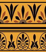 Vector set of national greek seamless ornaments (patterns) — Stock Photo