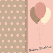 Happy birthday elegance greeting card, vector illustration — Stock Photo