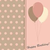 Happy birthday elegance greeting card, vector illustration — Stock Photo