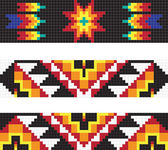 Traditional American Indian pattern, vector illustrations — Stok fotoğraf