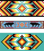 Traditional (native) American Indian pattern, vector — Stock fotografie