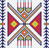 Traditional (native) American Indian pattern, vector — 图库照片