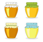 Jars of honey, set icon, vector illustration — Stock Photo