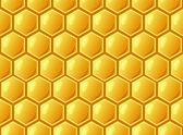 Bee's honeycomb, seamless pattern , vector illustration — Stock Photo