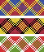 Vector illustration of plaid (tartan) seamless pattern — Stock Photo
