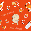 Cute baby background, seamless pattern, vector — Stock Photo #23075252