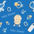 Cute baby background, seamless pattern, vector — Stock Photo #23075254