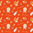 Cute baby background, seamless pattern, vector — Stock Photo #23075260