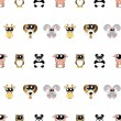 Vector  background with animals, seamless pattern — Stock Photo
