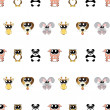 Vector background with animals, seamless pattern — Stock Photo #23075384