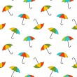 图库照片: Vector background with umbrellas , seamless pattern