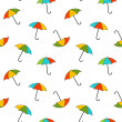 Stock Photo: Vector background with umbrellas , seamless pattern