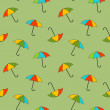 Vector background with umbrellas , seamless pattern — 图库照片