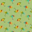 Vector background with umbrellas , seamless pattern — Stok fotoğraf