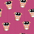 Stock Photo: Vector background with pigs, seamless pattern