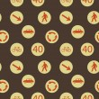 Vector background with  road signs, seamless pattern — Foto de Stock