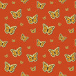 Vector summer background with butterflies, seamless pattern — 图库照片
