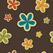 Vector floral vintage background , seamless pattern — Stock Photo