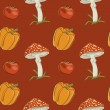Vector summer background with vegetables, seamless pattern — Stock Photo