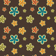 Vector floral vintage background , seamless pattern — Stock Photo #23077426