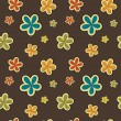 Vector floral vintage background , seamless pattern — Foto de Stock
