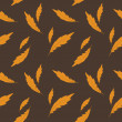 Vector background with feathers , seamless pattern — Стоковая фотография