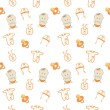Cute baby background, seamless pattern, vector — Stock Photo