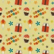 Vector happy birthday vintage background , seamless pattern — Stock Photo #23079570