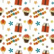 Vector happy birthday vintage background , seamless pattern — Stockfoto