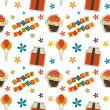 Stock Photo: Vector happy birthday vintage background , seamless pattern