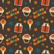 Vector happy birthday vintage background , seamless pattern — Stock Photo #23079586