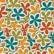 Vector floral vintage background , seamless pattern — Stock Photo #23079588