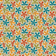 Stock Photo: Vector floral vintage background , seamless pattern
