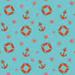 Vector  summer background, seamless pattern — Foto Stock