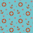 Vector summer background, seamless pattern — Stock Photo #23079618