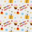 Vector happy birthday background , seamless pattern — Stock Photo #23079690