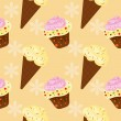 Vector background with cake and ice cream, seamless pattern — Stock Photo #23079694