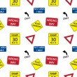 Vector background with road signs, seamless pattern — Stock Photo #23079696