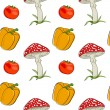 Vector summer background with  vegetables, seamless pattern — Foto de Stock